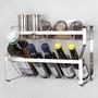 廚房必備 收納304不銹鋼調料架壁掛廚房必備置物架免打孔調味料架浴室收納架多雙層