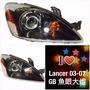 7號工廠 LANCER 03 魚眼大燈03-07 GB IO雙光超級魚眼 手工黑框黃角帝寶DEPO大燈組