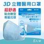加購 AOK 飛速 3D立體醫用口罩 5入/袋