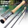 Sougayilang 漁具 4節飛蠅竿 新款飛蠅竿飛釣魚竿 戶外便攜式漁具 超輕 5# 飛蠅竿 漁具 戶外 釣魚