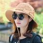 【現貨當天出貨】漁夫帽男女登山帽戶外奔尼帽釣魚帽夏季遮陽帽子可折疊