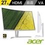 【Acer 宏碁】ED273 27型VA曲面窄螢幕(1800R / HDMI / 廣視角 / 內建喇叭 / 可壁掛 / 不閃頻濾藍光)