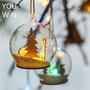 YOUWN❥美式聖誕裝飾燈 玻璃雪球 聖誕樹掛飾燈球 吊飾 水晶球 擺件 節日氣氛派對彩燈 現貨 門店裝飾