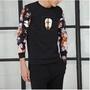 【獨家款式】暗黑系潮T 情侶 長袖T恤 大尺碼 寬鬆長袖上衣 男生衣著 韓國衣服 t shirt 印花t恤 男裝 潮牌