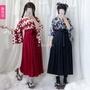 矢羽柄鯉魚羽柄鯉魚旗和風印花改良和服裝羽織上衣百褶半身裙長裙日本和服