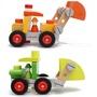 🌈🌈法國品牌Janod木製拆裝工具車 推土機 兒童拆裝螺母 工程車 早教益智 木製拖拉玩具 木製玩具