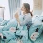❤現貨/免運 卡通兒童純棉宜家床包四件組雙人 精梳全棉40S貢緞 單人雙人加大床單三件組 床罩床包被罩被套 可訂製兩用被