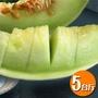 【果之家】台南七股白雪蜜世界洋香瓜哈蜜瓜5台斤1箱(約3-5顆)