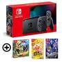 Nintendo Switch 主機 灰黑 (電池加強版)+超級猴子球+ASTRAL CHAIN 異界鎖鏈+健身環大冒險同捆組 特殊色/不區分