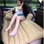 充氣車中床(免運) 汽車後座床墊-汽車專用 植絨車後排休息 贈充氣泵【DH491】◎123便利屋◎