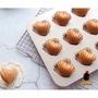 【299免運】【光影地圖】chefmade 胖瑪德蓮模  6連/12連 烘焙用品 愛心蛋糕模 胖貝殼模 法式蛋糕模