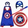 丹丹推薦 美國隊長盾牌 玩具兒童發光面具聲光劍 披風兒童節演出cosp衣服套裝