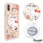 三麗鷗 Kitty iPhone XS Max 6.5吋施華彩鑽鋁合金屬框手機殼-玫瑰凱蒂