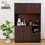 【南亞塑鋼】4.2尺五門二抽塑鋼電器櫃/收納餐櫃(胡桃色)