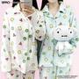 💓韓國ins超火 蠟筆小新睡衣套裝 珊瑚絨加厚冬季家居服 情侶款【附眼罩】