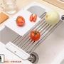 ♛滿188發貨❤日本不銹鋼廚房水槽架瀝水架可伸縮瀝水板碗架廚房置物架層架托盤免運