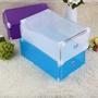 🍀塑料抽屜式鞋盒收納盒 居家生活防塵鞋盒 透明翻蓋鞋盒組 DIY組裝鞋盒糖果色翻蓋收納鞋盒