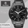 【CITIZEN 星辰】情人節時尚推薦款男用腕錶 光動能三眼計(43mm/CA0615-59E)