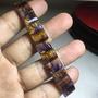 巴西老礦料頂級天然紫鈦(紫晶+黃磷鐵礦共生)手排
