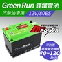 GREENRUN 12V/80ES 鋰鐵啟動電池 原車70~120AH內適用 支援AGM停啟 汽車電瓶【禾笙科技】