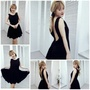 日本亮晶晶全內裡高級精緻澎裙無袖洋裝 one size 設計走秀品 小禮服 正式場合 晚宴 婚禮 黑色洋裝