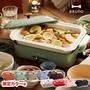 日本【BRUNO】BOE021 多功能鑄鐵電烤盤(2-3人份量/ 附2個烤盤/ 平盤+章魚燒盤)