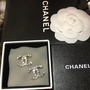 Chanel香奈兒二手圓鑽耳環