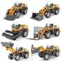 新品DIY組裝大號仿真慣性工程車模型 推土機壓路機挖掘機汽車玩具