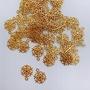 飾品DIY材料素材 / 金色雪花片造型飾品 / 16mm / 1080515-A018