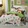 印花純棉四件套床包款加大單人4尺 5尺 6尺雙人保護套 床包/單人床包/雙人床包1.5m/1.8米床被套床包