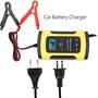 【HBS】12V6A摩托車汽車電瓶充電器 充電機 全智能 通用修復型鉛酸蓄充電器