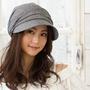 (048灰色)(QUEEN-HEAD)日本抗UV全棉素材小顏防曬帽