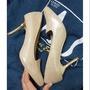 達芙妮daphne氣質香檳色高跟鞋23.5/37.5碼 38可以穿