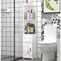 【浴室角櫃-鐵塔款】收納架 落地收納櫃 浴室側邊櫃 防水櫃 木製 環保 無毒 防水