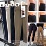 韓國收腹西裝直筒褲黑色xL