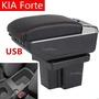 KIA 起亞 Forte 專用 扶手箱 車用扶手 免打孔中央手扶箱 收纳盒 置物盒 手扶箱 車杯