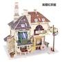木製diy手工仿真迷你模型房子 3D立体拼装木質街景建築房屋 木頭袖珍屋娃娃屋拼圖拼板 手作組裝積木模型屋玩具屋微景觀