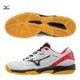 【美津濃MIZUNO】71GA194509(白X黑)SKY BLASTER 羽球鞋