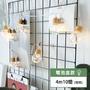 【泡泡星球】透明 大圓球 燈泡 LED串燈 居家 派對 婚禮 庭園佈置 燈串 燈飾 電池式(4M 10顆暖色燈)