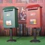 【HUSH】精品現貨!歐式可立式鐵藝郵箱復古信箱創意郵筒存錢罐家居裝飾  拍攝道具