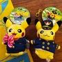 全新現貨下標即出|(兩隻一組)日本關西機場限定皮卡丘機長+空姐兩隻一組玩偶鑰匙圈吊飾 POKEMON/神奇寶貝/寶可夢