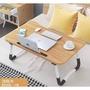 床上折疊桌 電腦桌 木紋 攜帶式 摺疊桌 小桌子 防滑墊 床上桌 筆電摺疊桌 床上懶人桌 便攜摺疊桌