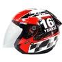 KYT DJ GP 賽道紅-3/4罩安全帽