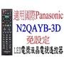 全新Panasonic國際液晶電漿電視遙控器N2QAYB-3D....免設定