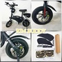 DYU Scooter Black Carbon Fiber Kit with Black Rims by Rim Buddy