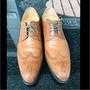 二手商品~ALLEGREZZA倫敦時尚透氣商務正裝男士皮鞋男復古英倫尖頭低幫鞋婚鞋牛津鞋 棕色 42(無鞋盒)
