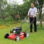 割草機本田草坪機1820寸四沖程汽油手推式自走割草機除草機打草剪推草機