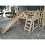 兒童實木家具 工廠直營 可以訂製 兒童滑梯床 遊戲床