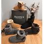 美國代購 bearpaw 熊掌 雪地靴 女 男 情侶鞋 高筒 真皮 羊毛 加厚 保暖鞋 雪靴 防風 加絨 蝴蝶結