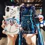 日本 送掛繩+公仔支架 華為 HUAWEI Nova 4 3i 手機殼 可愛藍胖子 手機殼 卡通 貓咪公仔 矽膠 保護套